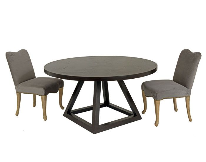 Triangle dining table french farmhouse or ebonised oak entrance hall pinterest french - Triangle dining table ...
