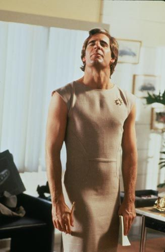 Scott Bakula as Sam Beckett on Quantum Leap during one of his fun leaps into a woman's body. So saved.