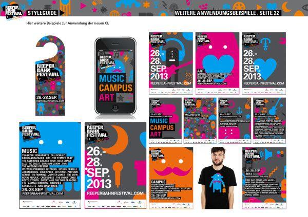 Reeperbahn Festival. Corporate Design 2013.