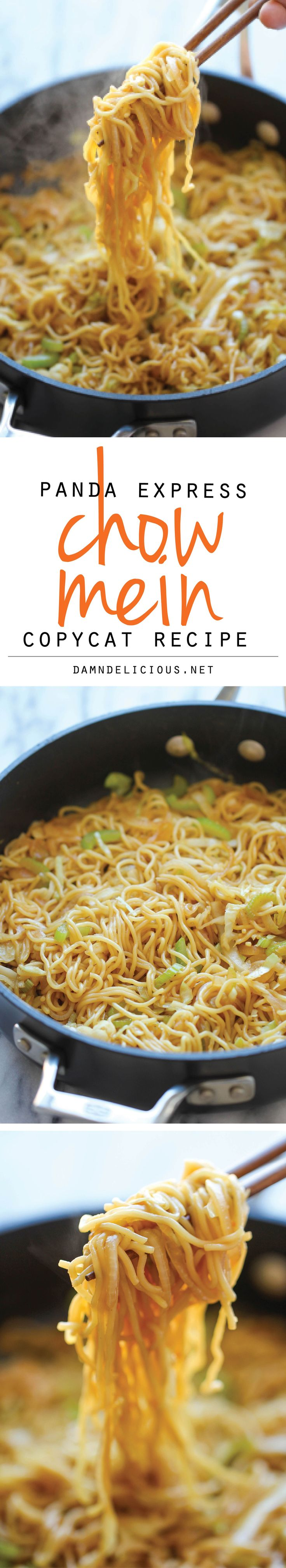 Panda Express Chow Mein Copycat - Tastes just like Panda Express except it takes just minutes to whip up and tastes a million times better! And can be adjusted to be a lot healthier.