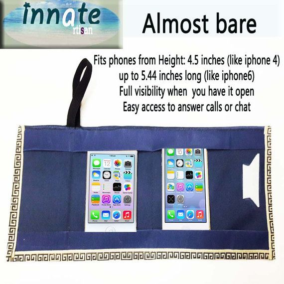 Two Cell phone carry bag by InnateArtisanSoap on Etsy