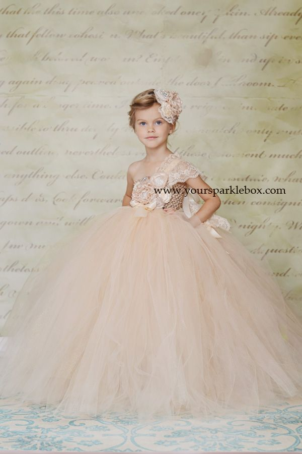 Champagne Vintage Tutu Dress by YourSparkleBox - - she WILL have one of these for a photo shoot!!