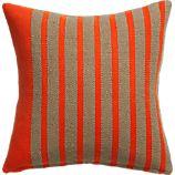 "division red orange 20"" pillow"