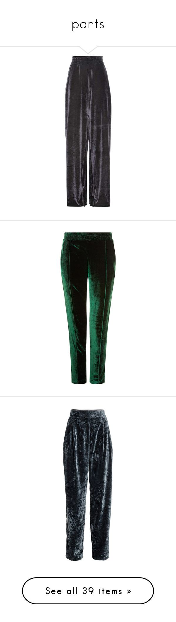 """pants"" by brigi-bodoki ❤ liked on Polyvore featuring activewear, activewear pants, pants, bottoms, black, track pants, embroidered sportswear, capris, trousers and emerald green pants"