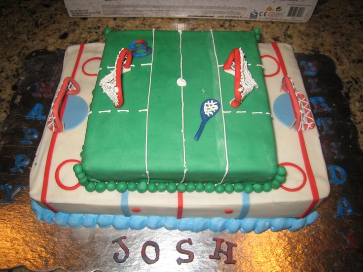 Hockey And Lacrosse Cake — Misc Sports