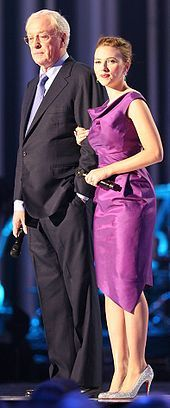 Johansson with Michael Caine at the Nobel Peace Prize Concert 2008