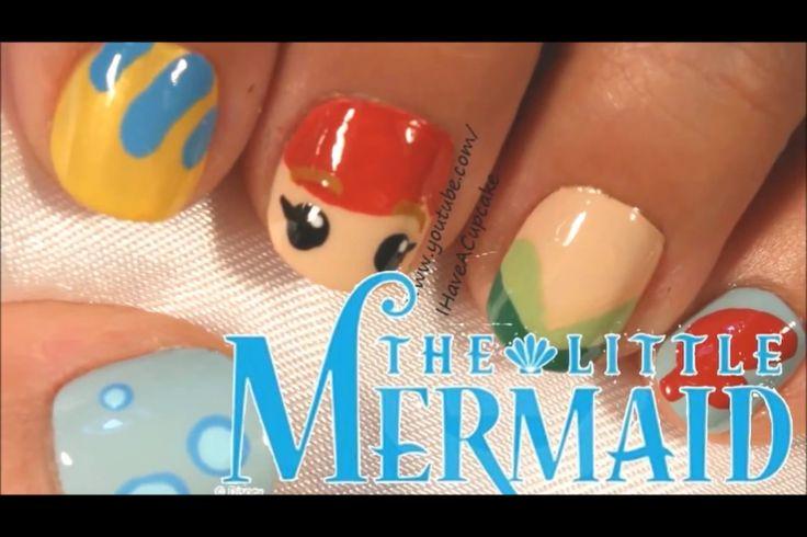 IHaveACupcake The Little Mermaid nail art