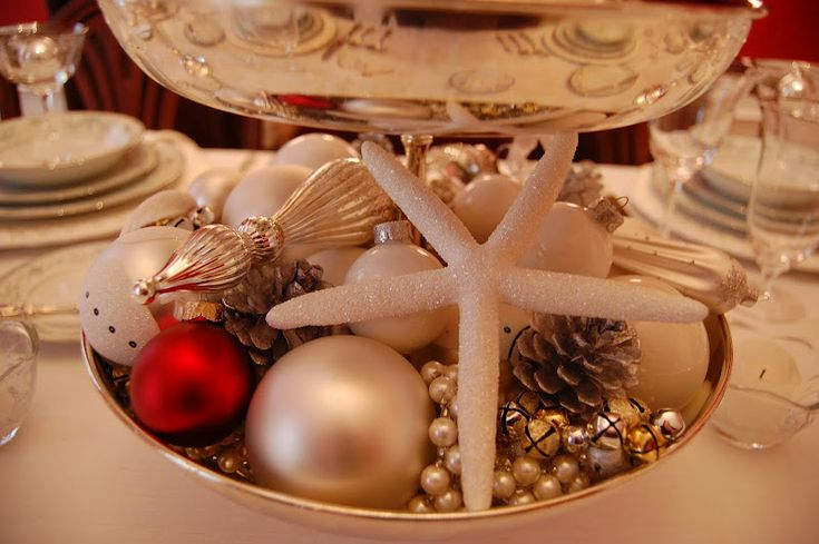 Christmas Table Setting: Tablescape