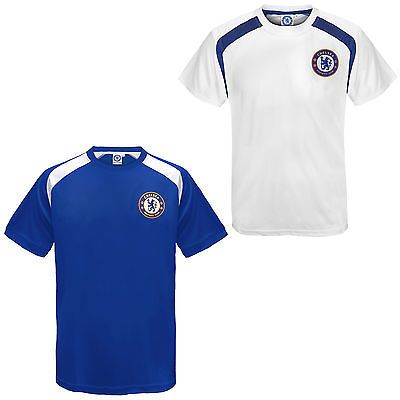#Chelsea fc #official football gift boys poly #training kit t-shirt blue white, View more on the LINK: http://www.zeppy.io/product/gb/2/400882856765/