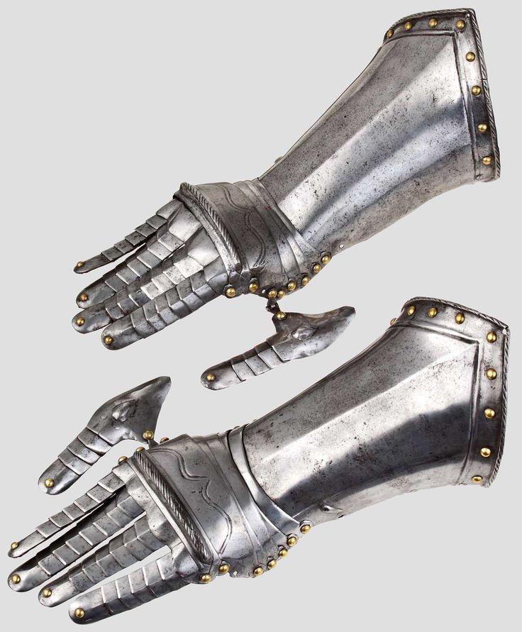 A pair of fingered gauntlets, Braunschweig to 1570/80