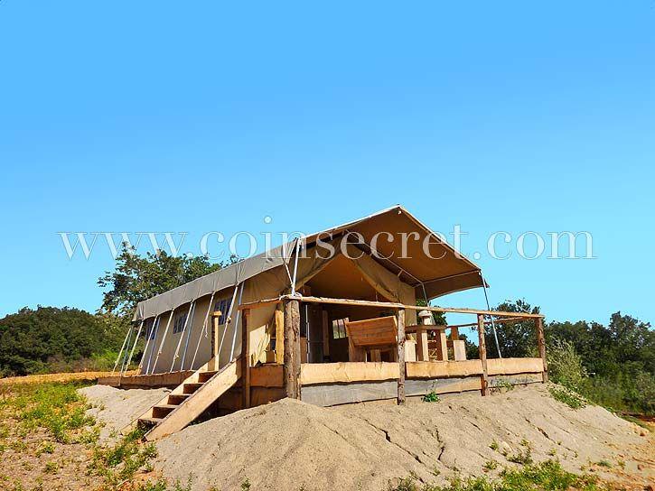 Tente dans un domaine privé de Petite Camargue