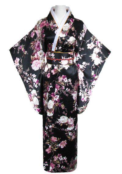 kimono japonais noir de geisha http://www.laciteinterdite.com/kimono-japonais-noir-de-geisha-c2x14801505