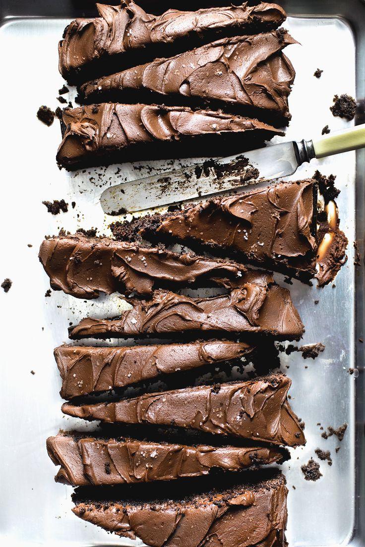 Texas Sheet Cake... remember this ?? so easy...so good.#chocolate #chocolatecake #easycake