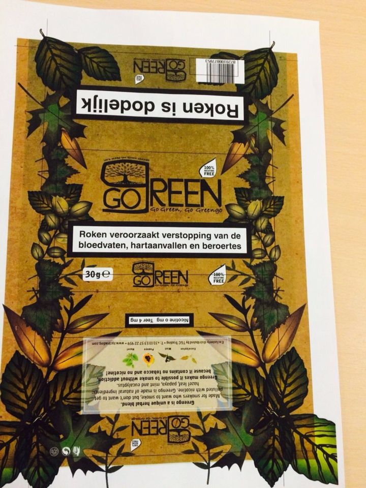 Mock up new greengo herbal tabacco, what do you think? Greengo-products.com