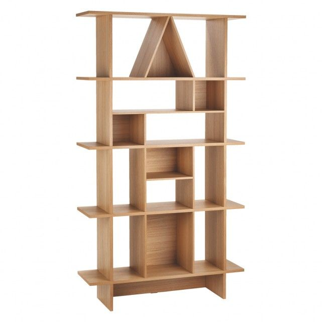 MALO Tall oak shelving unit