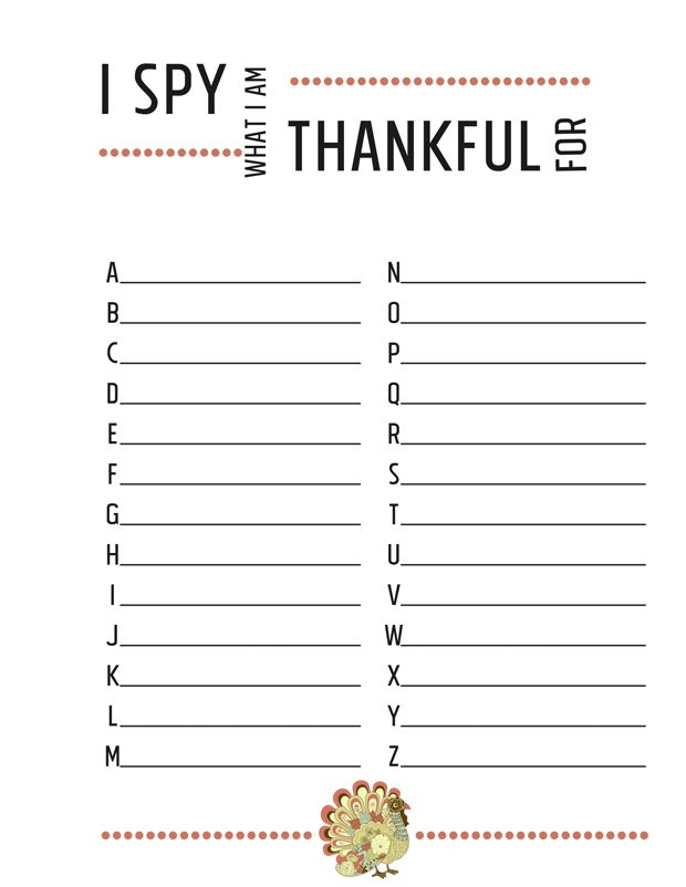 Thanksgiving Worksheets {free printables} - I SPY what I