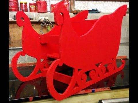 Making a sleigh out of 3/4 inch plywood. - YouTube