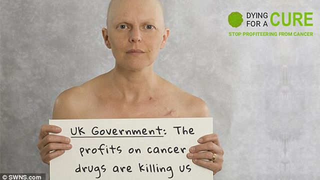 Facebook censors photo of ovarian cancer patient because the truth exposes the criminal drug industry
