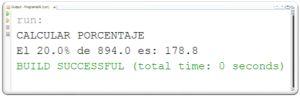 Programa en JAVA que calcula el porcentaje de un número