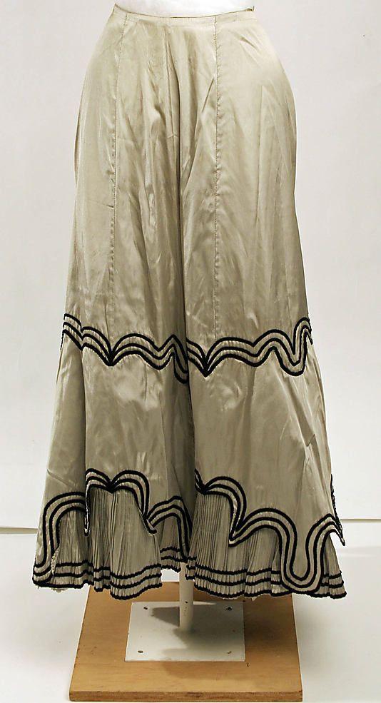 Petticoat: Silk Petticoats, Museums Costumes, 1900S, Petticoats 1907, 1900 1919, 1900 S, 1900 1920, 1900 1909, Metropolitan Museums