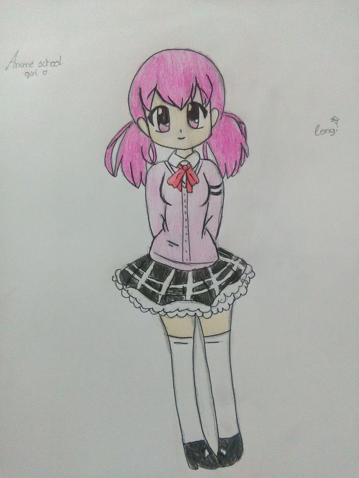 Animé school girl