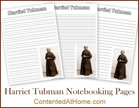 Harriet Tubman Notebooking Pages