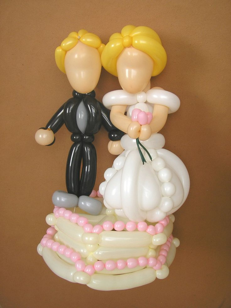 17 best images about balloon twisting weddings on for Balloon cake decoration
