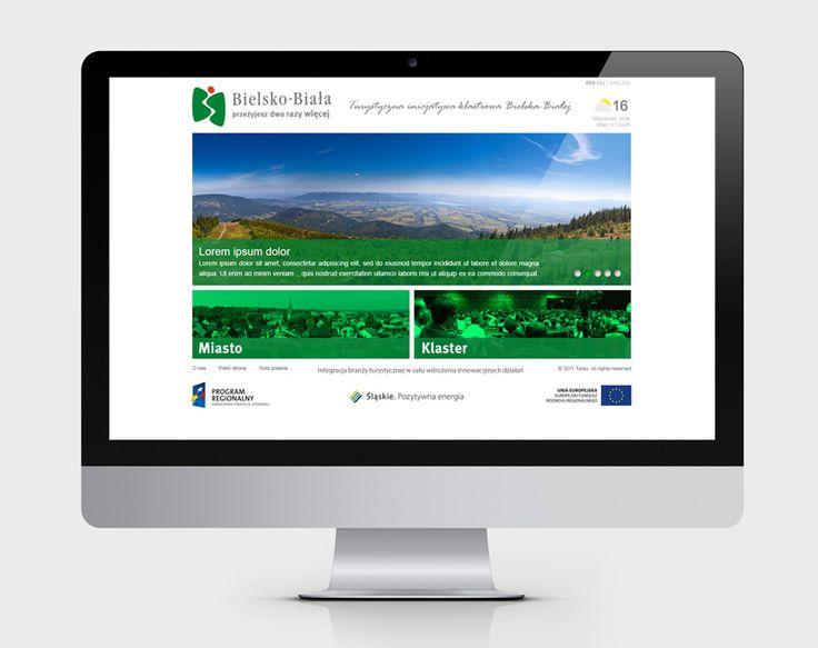 Projekt strony portalowej klastra turystycznego Bielska-Białej zrealizowany dla agencji reklamowej Wasistdas