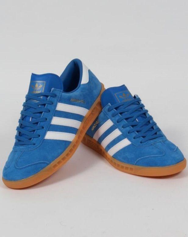 Adidas Hamburg Trainers Bluebird/White ...