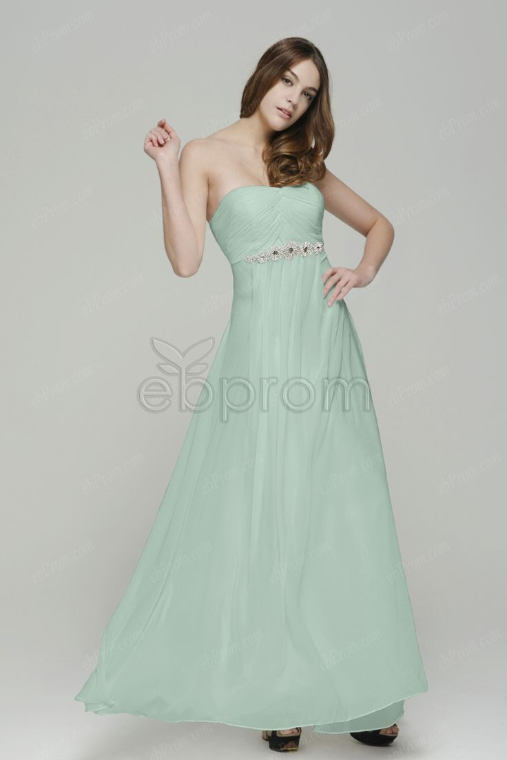 61 best bridesmaid styles and inspirations images on pinterest pastel green long bridesmaid dresses empire waist ombrellifo Choice Image