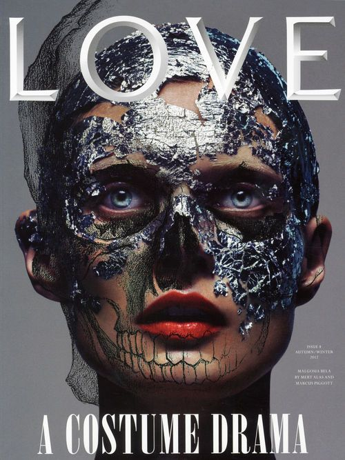 "cMag400 - Love Magazine cover ""A Costume Drama"" by Mert Alas and Marcus Piggott / Autumn Winter 2012"