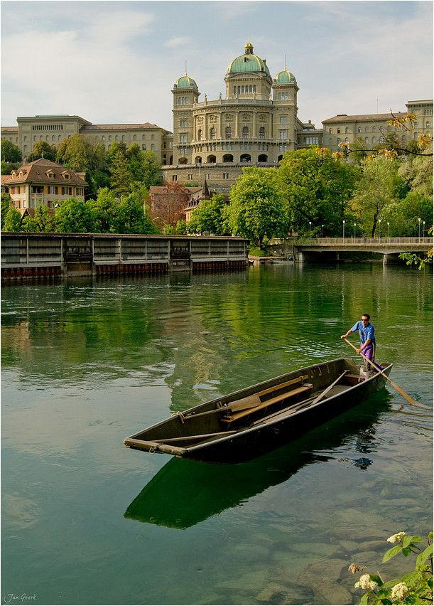 The Oarsman by Jan Geerk, via 500px - There are so many more places that I love than ever I imagined - and now I learn that Bern is one of them!