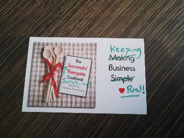 Keeping Business Real? by Sarah Lynn of The Successful Therapists Cookbook