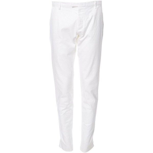 Pre-owned dsquared2 Linen Trousers (520 BRL) ❤ liked on Polyvore featuring men's fashion, men's clothing, men's pants, men's casual pants, men clothing trousers, white, mens linen pants, mens casual linen pants, mens white linen pants and mens white pants