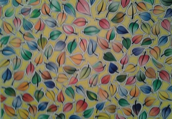 Falling Leaves - Watercolour pencils - 60 x 40 - $145.00 - NOT FRAMED