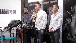 I want to test his chin  Joseph Parker eyeing up Anthony Joshua showdown for 2018