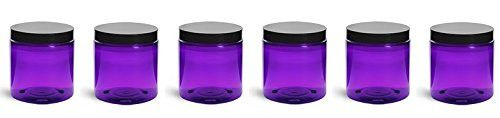 Includes 6 - Purple PET Plastic 4 oz jars with black smooth foam lined lids. • Deep Purple prevents damage to photo sensitive products from sunlight • Refillable jars are easy to clean, reuse, and rec