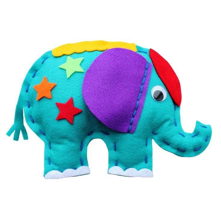 LuMoo Makemee Carnival Elephant Felt Friend- at Debenhams.com