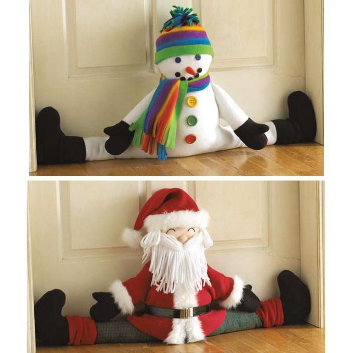 fabric snowman craft | Kwik Sew Crafts: Snowman and Santa Draft Stopper Pattern