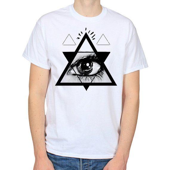 Psychedelic Eye Triangle Illuminati Satanic by WhiteoutFashion