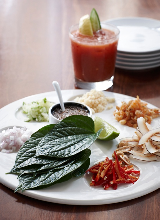 Miang Kahm - Roll your own Betel leaves at Longrain