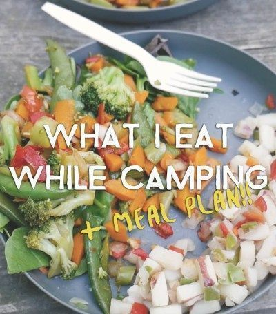what i eat while camping (+ meal plan!) | camping food is the best food, am i right? there's just something about eating your meal next to a fire surrounded by nature. but without access to a fridge, how do you decide what to cook? this guide will give you 10 grocery essentials to bring on every camping trip and even give you a sample meal plan to follow! click through to check it out! #whattoeatwhilecamping #cookingwhilecamping #campingfoods