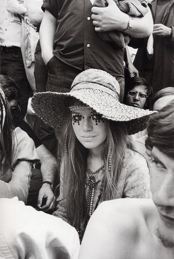 """Girl at Rolling Stones concert"" is probably one of the most iconic images from the late sixties, but we never really had a name. Until now. I was researching something Marianne Faithfull related when I came across an article about the Stone's free concert in Hyde Park, London in 1969. It has a shot of this girl and the caption reads: ""Hats off to teenage fashion … as displayed by the eye-catching sequins worn by Pamela Donaldson (…)""  Photo by Ian Harris, 1969."