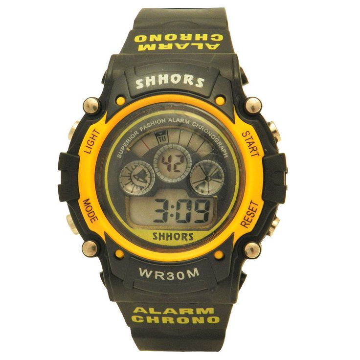 Shhors Multifunction Day Window Water Resistant Lighted Alarmed Digital Watch #Shhors #Sport