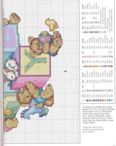 Schema punto croce Bears N Blocks 3