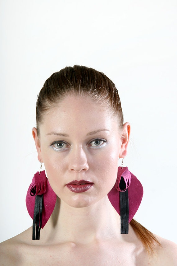 Intensity earrings from upcycled fabric by PiiaMyllerDesign, €18.50