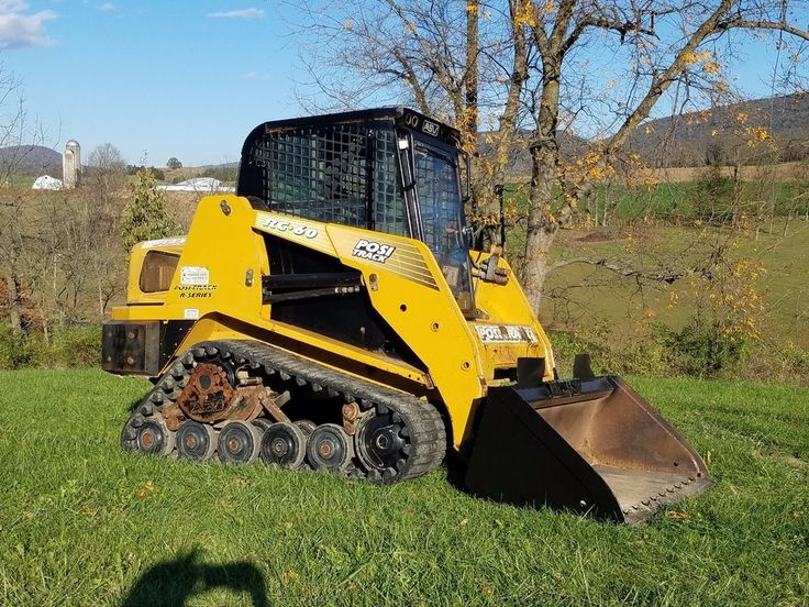 2004 ASV Posi-Track RC60 Compact Tracked Skid Steer Loader Diesel Cat Engine Cab