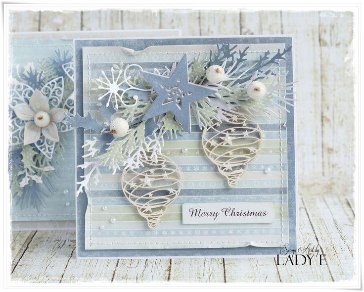 Scrap Art by Lady E: More Christmas Cards / Więcej karetk świątecznych Studio75 DT