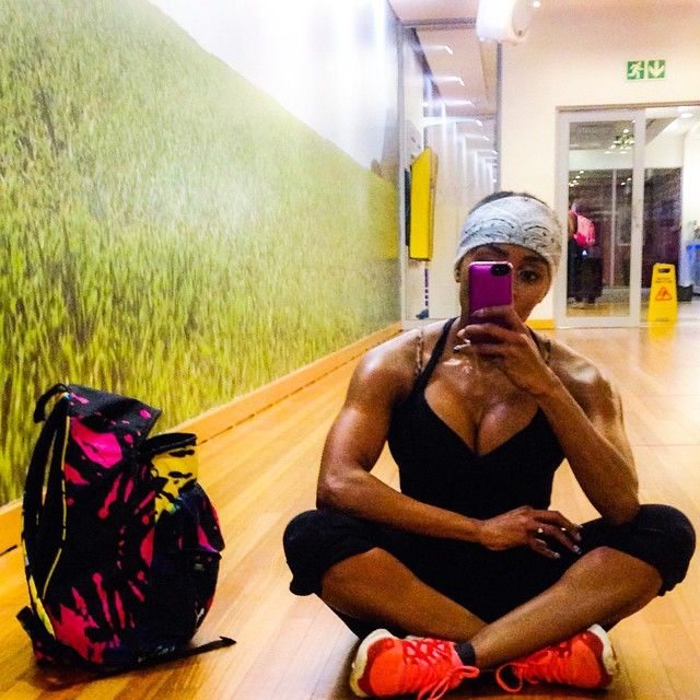 Thembi Seete - After a workout at the gym...#fire!