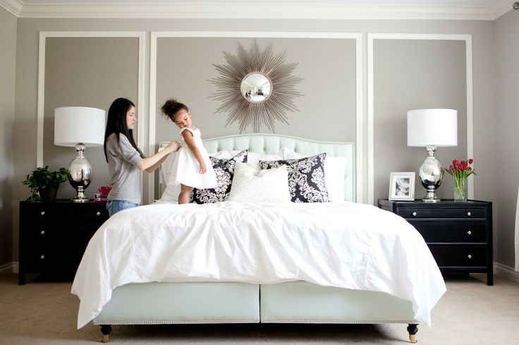 wall trim for grey master bedroom for the home pinterest